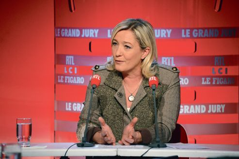 Marine Le Pen, dimanche, au «Grand Jury RTL-LCI-Le Figaro».