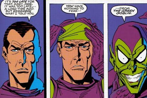 Harry Osborn dans une des séries BD Spider-Man. Crédits Marvel