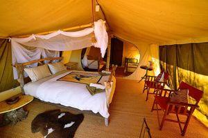 Les luxueuses tentes du camp de Kangaluna.