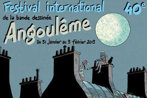 Jean-Claude Denis a créé une affiche crépusculaire avec une lune dans laquelle sont représentés les personnages des précédents présidents. Comme pour célébrer leur rayonnement dans le monde.DR