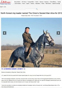 L'article publié le 27 novembre sur le site du  Quotidien du Peuple .