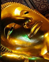 Le bouddha bienveillant du Wat Pho.