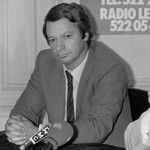 Jean-Pierre Stirbois, en septembre 1983, en campagne pour les élections municipales de Dreux. Il est numéro 2 du FN de 1981 à 1988.