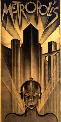 L'affiche de  Metropolis , de Fritz Lang, sorti en 1927.