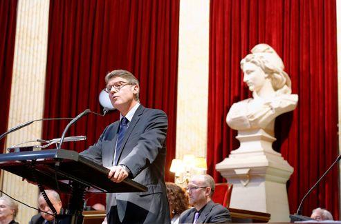 Vincent Peillon, invité du Grand Orient, le 16 novembre 2012.