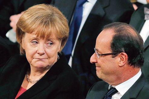 Angela Merkel et François Hollande, lundi dernier, à Oslo.