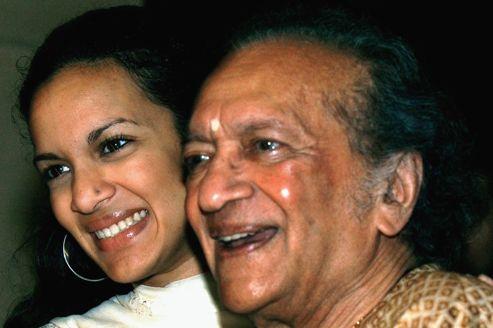 Ravi Shankar et sa fille, la compositrice, Anoushka Shankar.