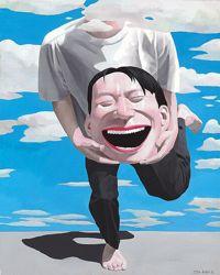 une toile du peintre chinois Yue Minjun, que Benjamin et Ariane ont été parmi les premiers à collectionner.