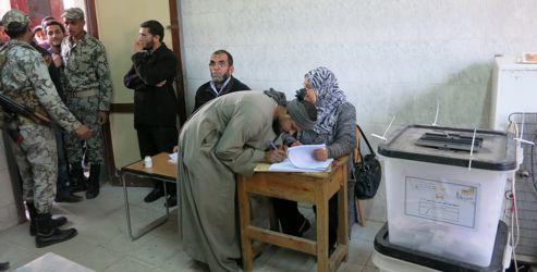 Le bureau de vote de l'école Fekrya. Crédits photo: Delphine Minoui.