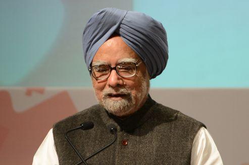 Le premier minitre indien Manmohan Singh durant l'inauguration du 85 ème congrès économique de la Chambre de Commerce et d'Industrie d'Inde, le 15 décembre à New Delhi.