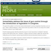 Une pétition contre les armes bat des records