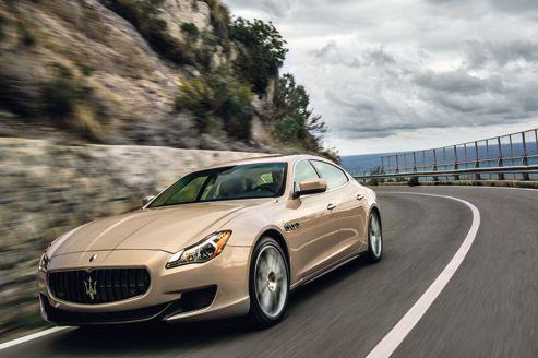La sixième génération de la Quattroporte s'allonge de 16cm pour devenir le modèle le plus long du marché.
