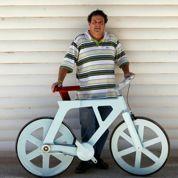 Le vélo en carton, idéal pour les pays du Sud