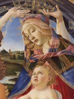 « La Vierge à l'Enfant » de Botticelli. Le peu d'éléments que les Évangiles fournissent sur la naissance de Jésus n'entrent pas en contradiction avec ce que les historiens savent de l'époque.