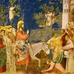 «L'entrée du Christ à Jérusalem », par Giotto. Cet épisode précède l'arrestation de Jésus, dont la condamnation est datée de l'an 30, sous le règne de Tibère.