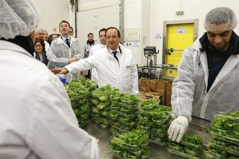 Cette visite à Rungis est la première pour François Hollande depuis son accession à la présidence de la République.