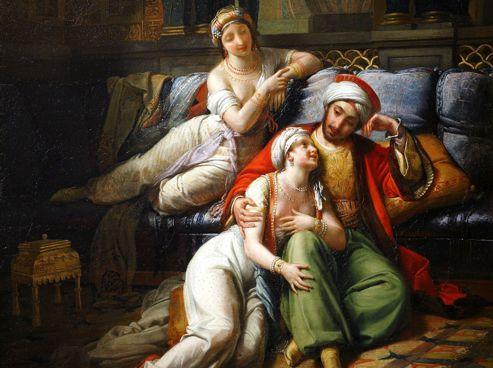 Schéhérazade raconte au sultan une aventure des <i>Mille et Une Nuits</i> par Paul-Émile Destouches.