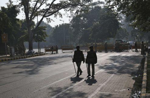 Les autorités craignent des débordements et ont bouclé une partie du centre-ville de New Delhi.