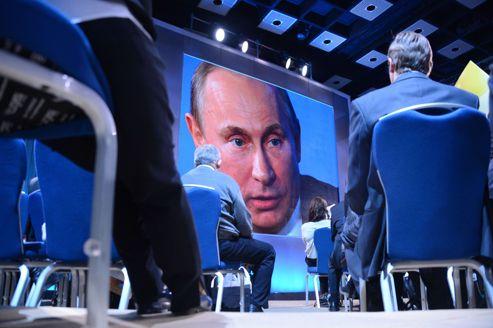 Une conférence de presse de Vladimir Poutine, à Moscou le 20 décembre dernier.