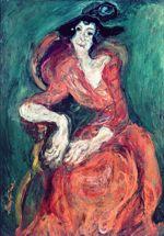 La Femme en rouge , 1922, par Chaïm Soutine (Musee d'Art Moderne de la Ville de Paris).