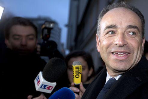 Jean-François Copé, mardi, à la sortie d'une rencontre avec le Conseil français du culte musulman.