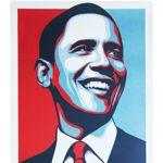 Shepard Fairey, Obey (Etats-Unis), Vote, 2008, sérigraphie numérotée 4517/5000, collection privée de Nicolas Laugero Lasserre