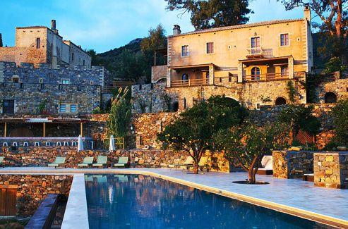 L'hôtel Kinsterna près de Monemvasia, Laconie, Grèce.