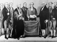 La première investiture, celle de George Washington, se déroule en 1789 à New York.