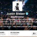 Capture d'écran du compte officiel de Justin Bieber sur Twitter. (Crédits photo: DR)