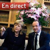 Suivez les discours de Hollande et Merkel