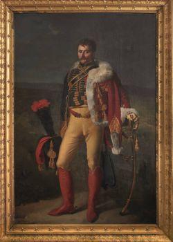 Portrait d'apparat du baron Jean-Baptiste Isidore Martin de Laborde par Alexandre Benoît Jean Dufay Casanova (224 x 149 cm)