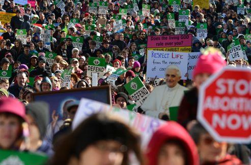 Les opposants à l'avortement ont déjà défilé à Atlanta (Géorgie), mardi, à l'occasion du 40e anniversaire de «Roe vs Wade».