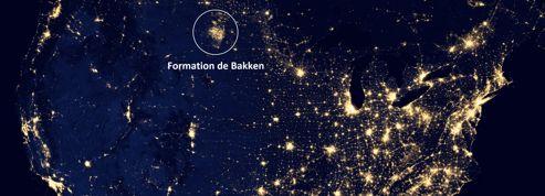 Les gaz de schiste brûlés visibles depuis l'espace