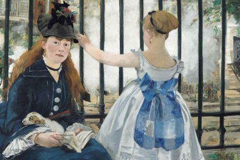 <i>Le Chemin de fer,</i> 1873, dernier portrait du modèle fétiche de l'artiste, Victorine Meurent.
