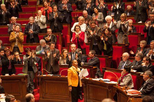 Christine Taubira, jeudi, à l'Assemblée nationale.