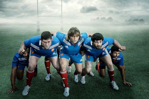 Les rugbymen français jouent les superhéros dans la dernière campagne d'Adidas. Crédit: Adidas
