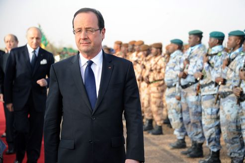 François Hollande, samedi à Tombouctou.