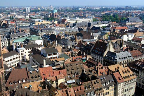 Vue de Strasbourg. L'Alsace a compté, en 2012, près de 88.000 inscrits à Pôle emploi.