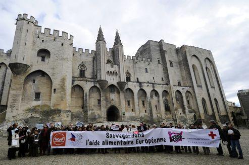 Les associations d'aide alimentaire françaises ont manifesté le 4 février dernier pour protester contre la baisse annoncé des subventions de l'UE.