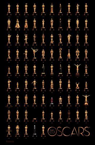 L'affiche officielle des Oscars 2013 (Crédits: Olly Moss).
