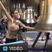 Les Femen fêtent le départ de Benoît XVI