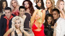 Affiche publicitaire pour présenter 12 des stars de Planeta TV.