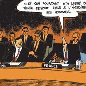 Villepin à l'ONU : un discours en BD