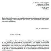 Conservatoire: la lettre contre Mesguich
