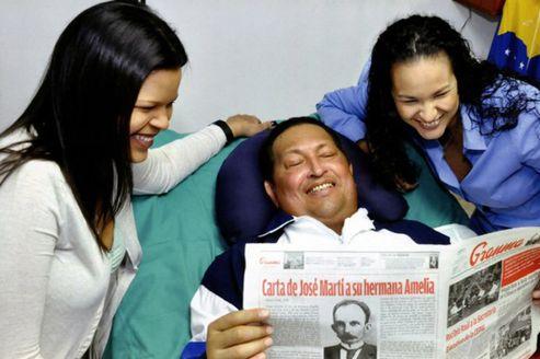 خبرعالمي صورة لهوغو شافيز سرير