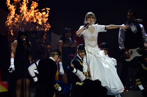 Taylor Swift lors des Brit Awards.