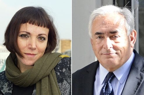 Marcela Iacub et Dominique Strauss-Kahn. Crédits photo: Le Figaro/AFP.