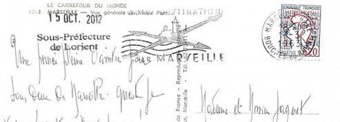 Une carte postale met 50 ans à faire Marseille-Lorient