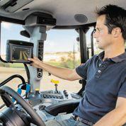 Des tablettes dans les tracteurs