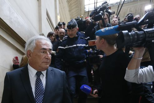 Dominique Strauss-Kahn, mardi au tribunal.